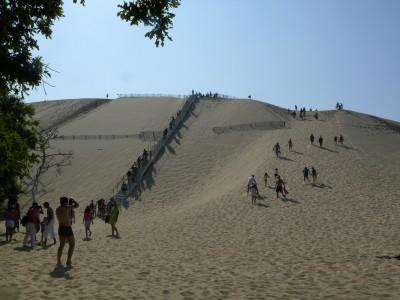 la montée sur la Dune