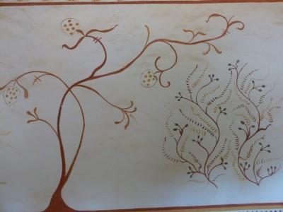 les peintures murales de la chambre d'honneur