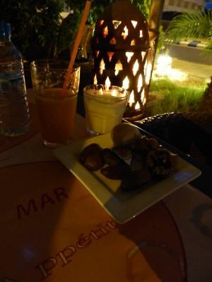 l'entrée/dessert/boisson