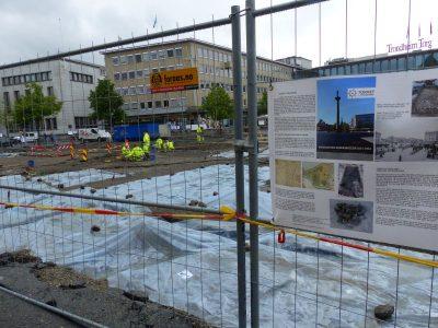 fouilles archéologiques place Torget.