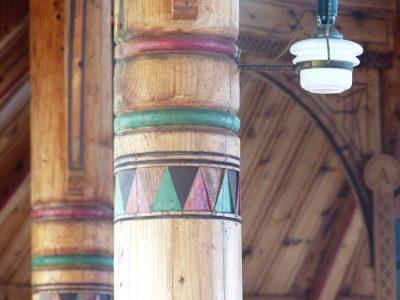 les piliers colorés,