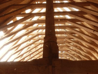 la toiture en réfection